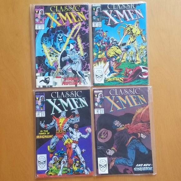 1980s Marvel Comics (Lot of 4) Classic X Men ****